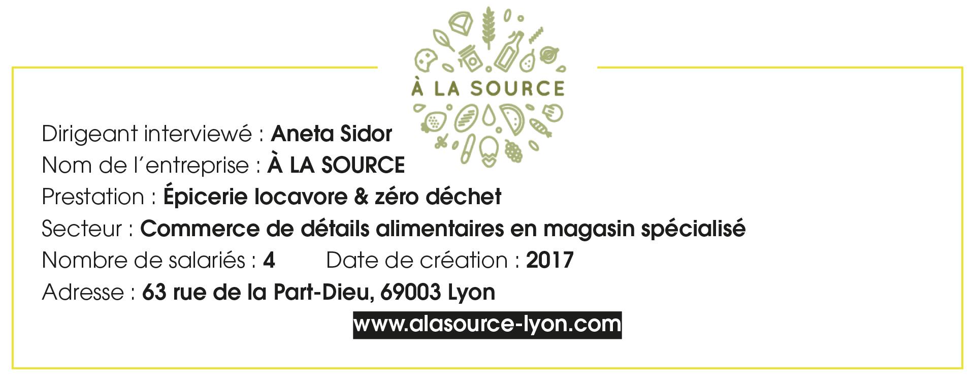 Fiche Entreprise À la source - Aneta Sidor